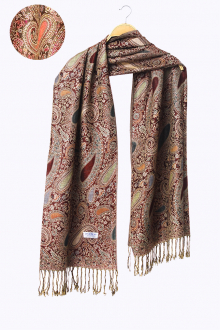 Gulzar In Premium Paisley Motifs Pashmina Shawls