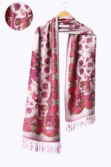 Senna in Butterfly Flower Motifs Pashmina Shawls