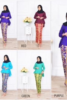 BACKORDER Andyra Peplum Fish Tail Kurung Set