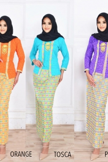 BACKORDER Caliana Kebaya Emboss Printed Set