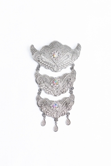 Adeela 3 Layer Brooch Tradisional Style with Crystal stone