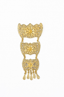 Adyenaa 3 Layer Brooch Tradisional Style with Crystal stone