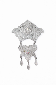 Adlea 2 Layer Dokoh Brooch Tradisional Style with Crystal stone