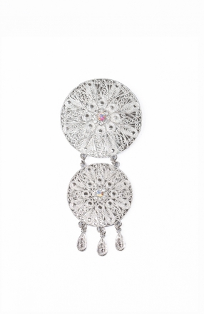 Aileen 2 Layer Dokoh Brooch Tradisional Style with Crystal stone