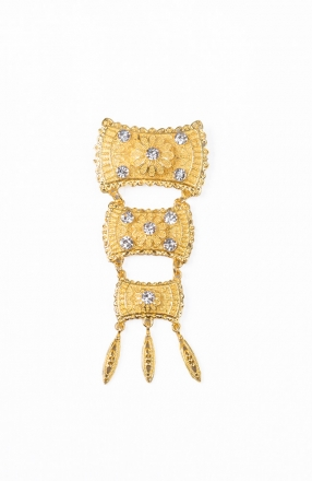 Alvina 3 Layer Dokoh Brooch Tradisional Style with Crystal stone