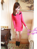 Slim Sleeve Short Dress