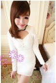 Dress with Lace Collar