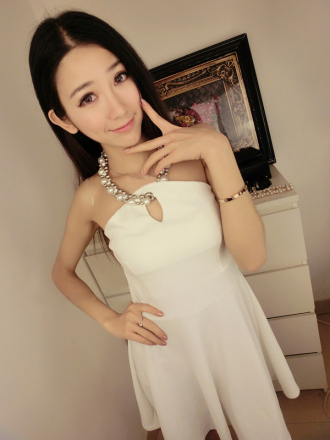 Pearl Strap Dress