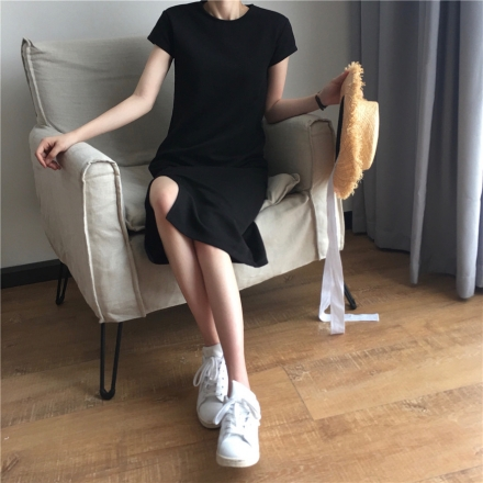 Front Slit Casual Dress