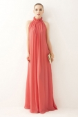 Chiffon Maxi Dress with Halter Top