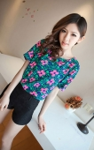Flower Printed Casual Tee
