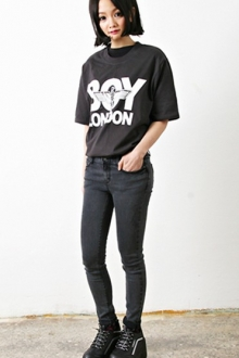 Wording Printed Casual Tee
