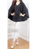 Cape Design Round Neck Women Blouse