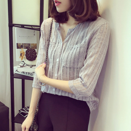 Sheer Stripe Shirt