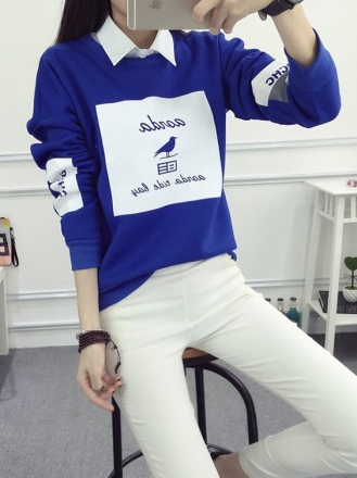 Korean Trendy Graphic Sweater Shirt