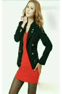 Button Design Women Blazer