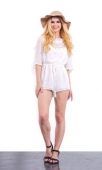 Bell Sleeve Lace Playsuit