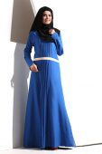 Khalila Pleated Jubah - Pleated Design Modern Jubah Dress