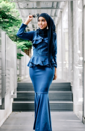 Erissa Exclusive Peplum Dress
