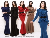 Nureena Exclusive Peplum Dress