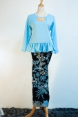 Dolly Pleated Kurung With Batek Sarong