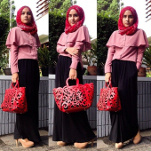 2 Pieces Overlay Top with Long Skirt (Including Shawl)
