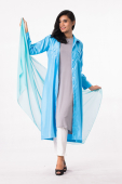 3 Pieces Oversized Long Sleeve Shirt + Sleeveless Inner Top With Pants (Including Shawl)