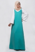 Filzah Long Slip A-Cut Dress with Bell Sleeve Inner Blouse