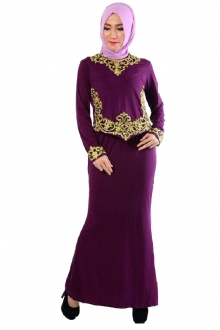 Juleya Modern Kurung Set with Embroidery Details