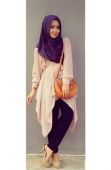 2 Pieces Floral Design Chiffon Top with Pants (Including Shawl)