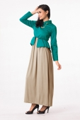 2 Pieces Joint Pattern Design Jubah Dress with Chain Attach