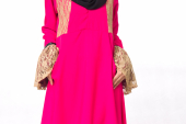 Yuhannis Lace Details With Pocket Jubah Dress