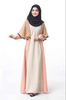 Mardihah Cape Style On Shoulder Jubah Dress