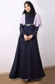 Amyna - Ruffles on Shoulder Jubah Dress