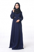 Dibba Puffy Sleeve With Leather Details Jubah Dress