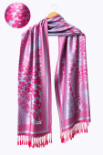 Sazzy In Snow Floral Motifs Pashmina Shawls