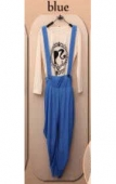 2 Pieces Cross Back Strap Jumpsuit with Inner Top