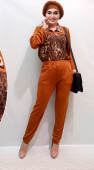 2 Pieces Leopard Design Top with Long Pants