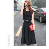 Trendy One Piece Pleated Culotte and Top